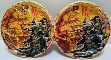 """New (16) Pirates of the Caribbean paper party plates! Cake dessert snack 6 3/4"""""""