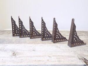 6 Antique Style Shelf Brace Wall Bracket Cast Iron Brackets SMALL 5 x 4 Restore