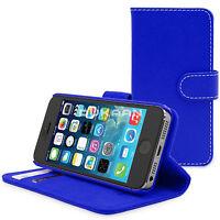 APPLE iPhone 4 5 5C SE Flip Folio Book PU Wallet Leather Case Cover Stand Purse