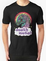 New Zombie Unicorn Death Metal Men's T-Shirt Size S-2XL