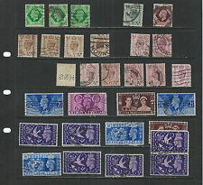 Great Britain-Cancel Study On George Vi-Used-Specialist Lot-