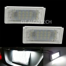 BMW E46 2D High Power OBC Error Free White 18-SMD LED License Plate Lights Lamp