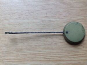 Antique French Clock Brass Pendulum 52g 32mm Diameter 130mm long For Spare Parts