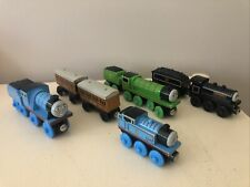Thomas the Tank Engine & Friends Wooden Trains and Carriages x5