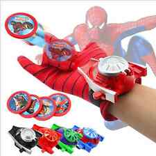 Super Hero Launchers Gloves Spider-Man Iron Man Hulk Children Kids Cosplay Toys