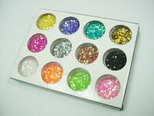 12 Color Nail Art Powder Glitter Colourful Kit Carving Pattern Pigment Beauty B