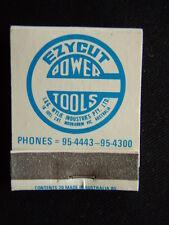 EZYCUT POWER TOOLS WODWORKING MACHINES 16 JOEL CRT MOORABBIN 954443 MATCHBOOK