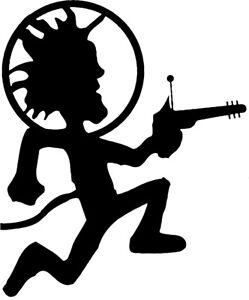"ALIEN HATCHET MAN Insane Clown Posse ICP VINYL DECAL sticker Juggalo  4"""