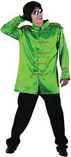 SGT PEPPER JACKET, GREEN, ADULT COSTUMES, 1960s BEETLES FAB 4 FANCY DRESS #AU