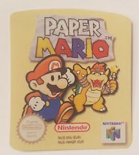 REPLACEMENT N64 CARTRIDGE STICKER LABELS FOR PAPER MARIO EURO PAL