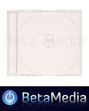 100 x Jewel CD Cases with Clear Tray Single Disc - Australian Standard Size case