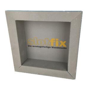 SLOTFIX® Wandnische befliesbar montagefertig 30x30x10cm Ablage Shampoo Deko Haus