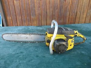 "Vintage McCULLOCH MAC 10-10 AUTOMATIC  Chainsaw Chain Saw with 15"" Bar"