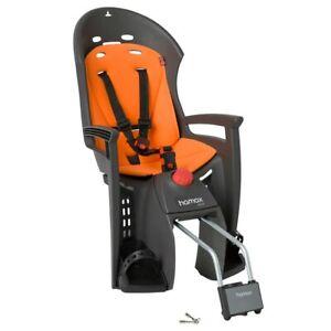NEW - Hamax Siesta Child Bike Seat - Grey/Orange - FREE INT SHIPPING