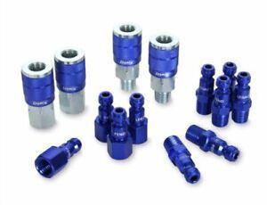 ColorConnex Coupler & Plug Kit 14 Piece Automotive Type C 1/4 in. NPT Blue A7...