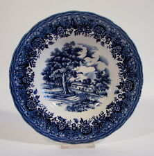 Suppenteller Grindley Staffordshire English Country Style blue Keramik