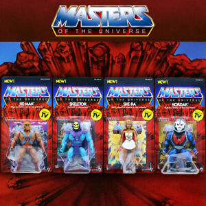 Masters of the Universe Vintage Wave 1 Set 4 He-Man Skeletor She-Ra Hordak MOTU