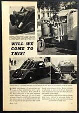 Nazi Alternative Energy Fuel 1942 pictorial Gazogene Acetylene Cars in France