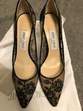 Jimmy Choo Romy  Lace Pointed Pumps Size 38.5