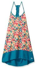 ROXY GIRL BY QUIKSILVER BISCAY BAY TANK DRESS COVER-UP TROPICAL FLORAL SZ S 8-10