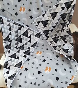 Receiving Baby Blanket. New Born Baby Blanket. Little Fox Baby Blanket.