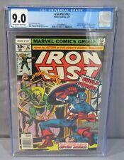 IRON FIST #12 (Captain America & Wrecking Crew app) CGC 9.0 VF/NM Marvel 1977