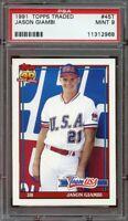 1991 topps traded #45t JASON GIAMBI oakland athletics rookie card PSA 9