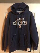 Dallas Cowboys Men s Navy Sweatshirt Hoodie Gridiron Classic Reebok Large L  NFL 27b93ea99