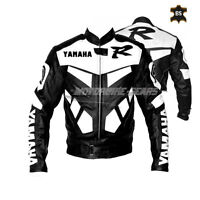 Black racing R1 leather jacket moto gp style leather jacket for track racing