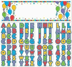 PERSONALIZE YOUR OWN MESSAGES 96 LETTERS , NUMBERS PEEL &STICK