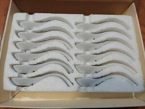 Pottery Barn Ceramic Spoons Set of 12 (NEW)