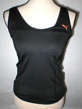 NWT Womens New M Puma Wicking Shirt Top Black Yoga Running Bra Gym Tank CoolCell