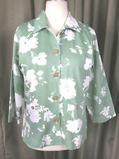 Orvis Green Floral Jacket Trouser Suit Tropical Traveller Cruise Beach UK10 EU38