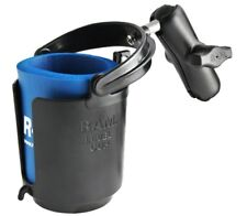 """RAM MOUNT SELF LEVELING DRINK CUP HOLDER WITH 1"""" BALL MOTORCYCLE ATV LAWN MOWER"""