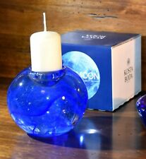Kosta Boda. Portacandele blu. Nuovo, nella confezione originale.
