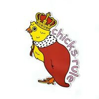 Chicks Rule Queen Magnet for Refrigerator, Car Bumper, Office
