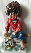 "GOEBEL MICHEL T. FIGURINE, CUTE BOY WITH TOY BOAT, ""SAILOR"", MOLD MIC 10, TMK 4"