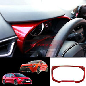 For Toyota Corolla Hatchback/Sedan 2019-2021 Red Dashboard Decorative Cover Trim