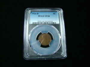 1924-D Lincoln Cent PCGS Graded VF30 PCGS#39150550