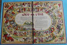 Antique jeu d'Epinal jeu de l'Oie Paris Art Deco jeu de société automobile dé