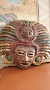 Vintage Baja Boho Ceramic Mask