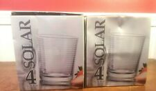 Set of 8 Solar DOF Whiskey Barware Glasses NIB