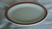 Mayer China Restaurant Ware Ironstone Oval Platter Plate Dish White Vintage