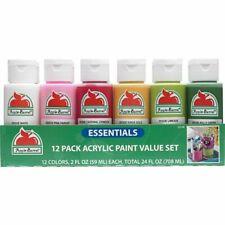 Apple Barrel Acrylic ESSENTIALS Assorted Colors Paint Set, 2 oz - 12 Piece