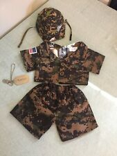 Build A Bear Digital Camo Camouflage Outfit Army Military Helmet Name Tag Clothi