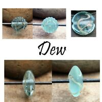 Dew -  Handmade Glass Lampwork Coin Beads - elasia SRA MTO