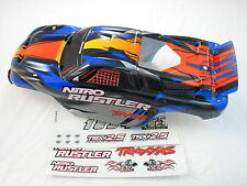 NEW BLUE 2.5 NITRO RUSTLER PAINTED BODY TRAXXAS