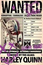 HARLEY QUINN WANTED POSTER fea. Margot Robbie Suicide Squad Poster 24x36