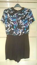 WOMENS STUNNING PLAYSUIT FLOWERS SIZE 8. OFFERS WELCOME.