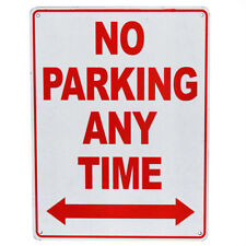 2x Warning Notice Sign No Parking Any Time Property 225x300mm Metal High Quality